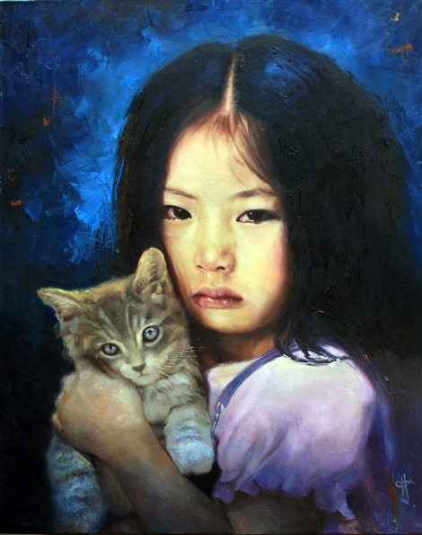 Chris Hopkins - Oil Painter - Internment - Best Friend Farewell