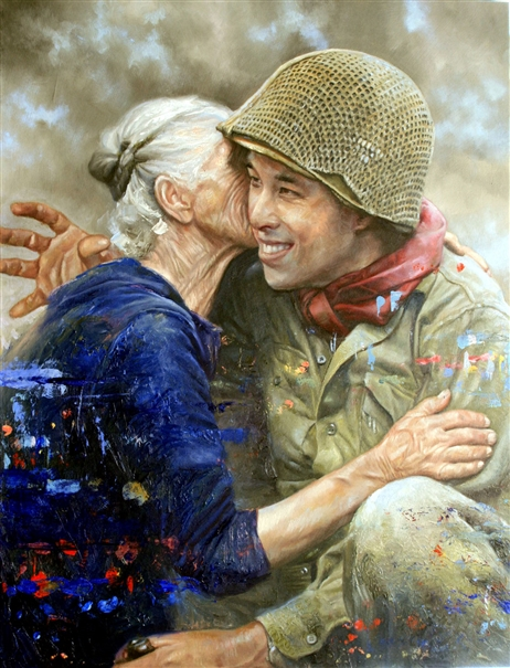 Chris Hopkins - Oil Painter - Internment - Don't Tell My Girl Back Home