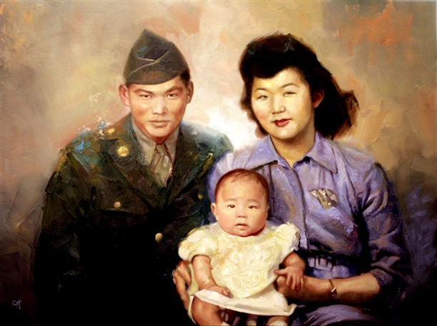 Chris Hopkins - Oil Painter - Internment - The Eve Of Deployment