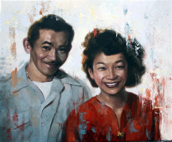 Chris Hopkins - Oil Painter - Internment - Amy and the No No Boy