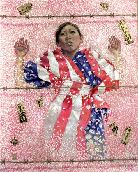 Chris Hopkins - Oil Painter - Internment - The Weeping of the Sakura