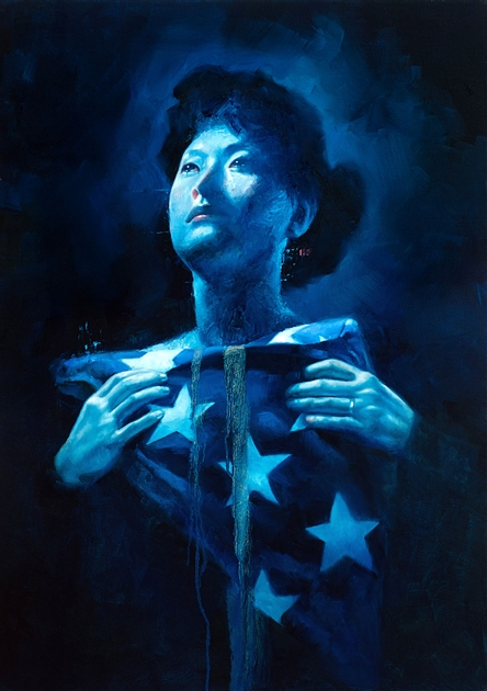 Chris Hopkins - Oil Painter - Internment - Gold Star